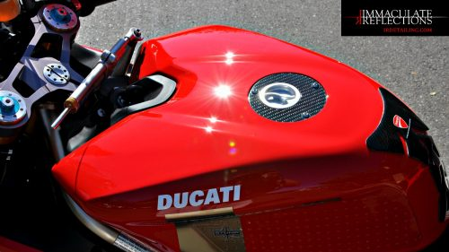 This Ducati 1098S Tricolore was fully detailed and paint corrected after a season of track racing by Immaculate Reflections SF.