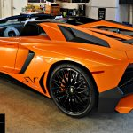 The Ceramic Nano Coating really makes the paint pop on this Lamborghini Aventador Super Veloce.