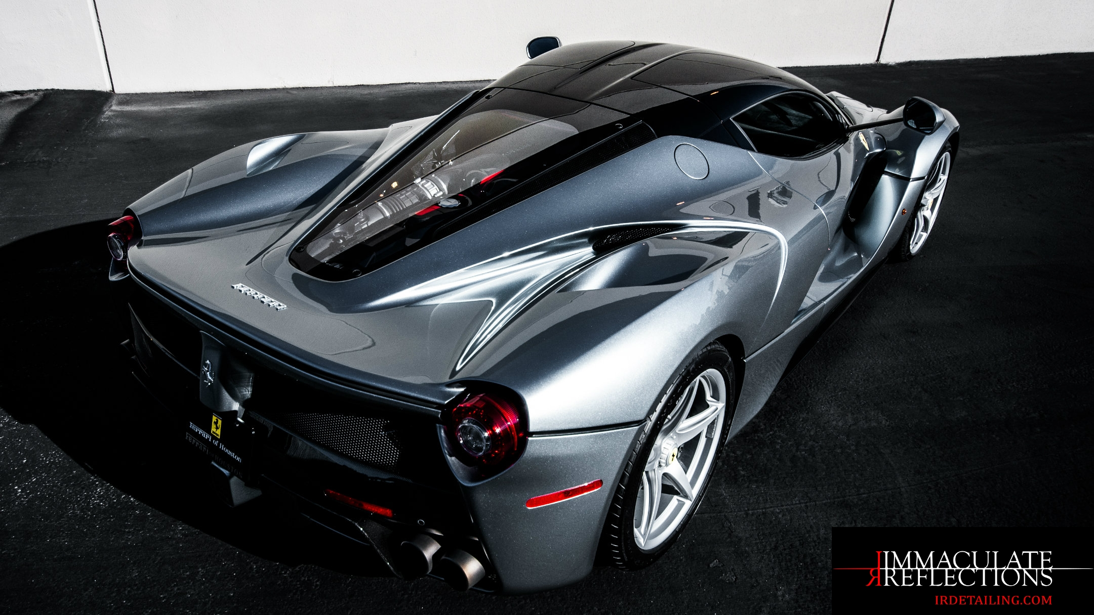 This Ferrari LaFerrari was fully paint corrected and ceramic coated to sparkling perfection by Immaculate Reflections in East S.F. Bay Area.
