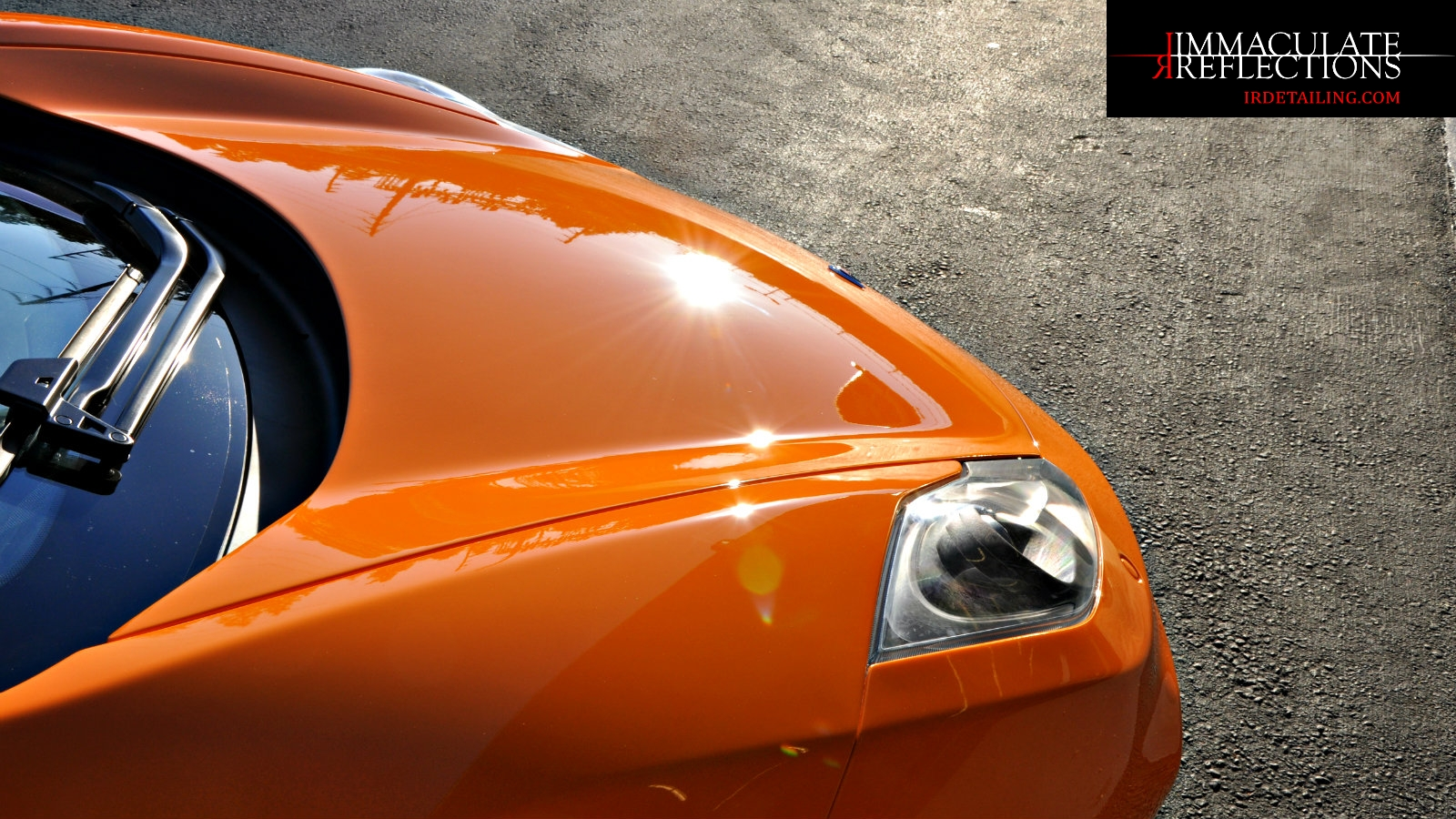 Magnificent sun shots from this McLaren MP4-12C thanks to IRDetailing.com paint correction detail services.