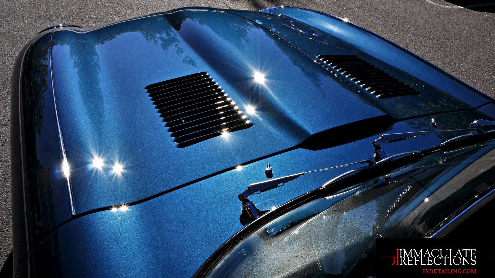 Jaguar E Type sparkles waiting to be show off after IRDetailing SF paint correction services.