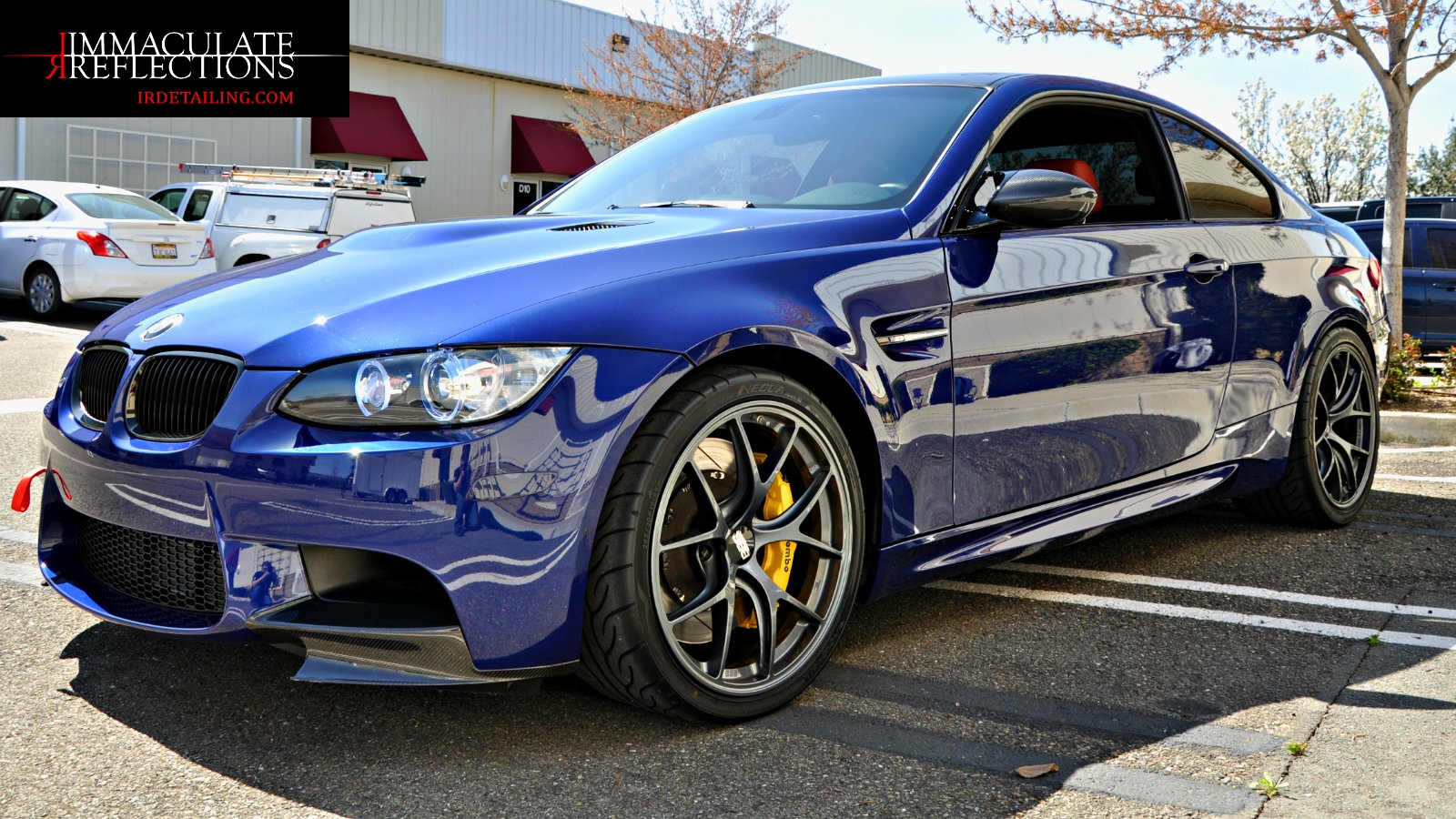 BMW M3 is as fierce as she is beautiful after Immaculate Reflections Paint Correction, CQuartz Finest Reserve, and Leather and Fabric Coating Detail.