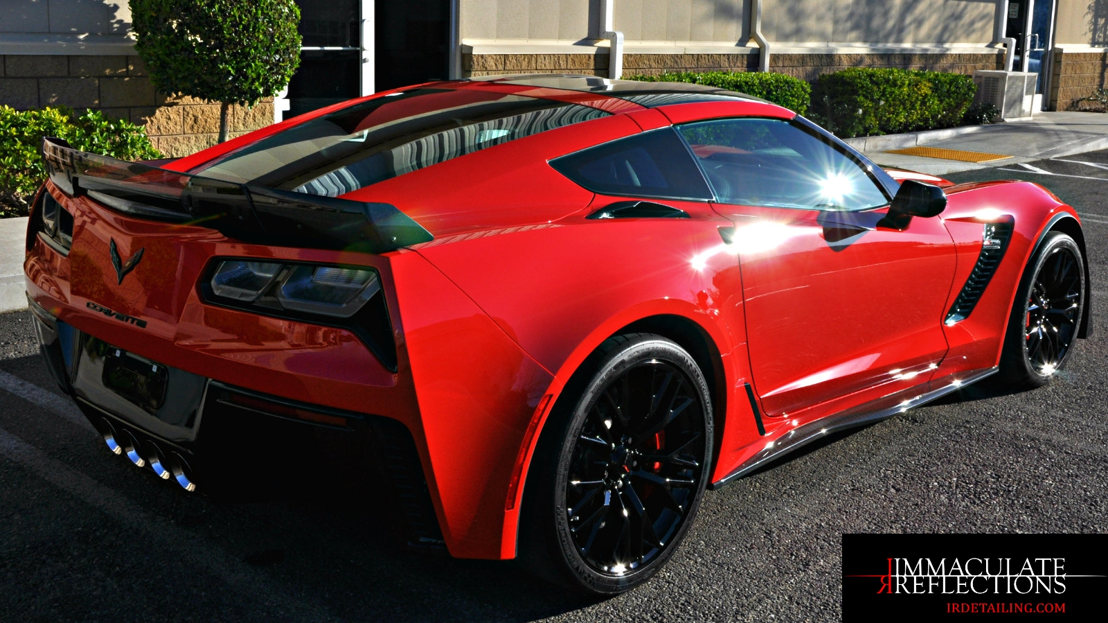 This C7 Corvette is ready for the car show after an Immaculate Reflections full paint correction & CQuartz Finest Reserve ceramic coating application.