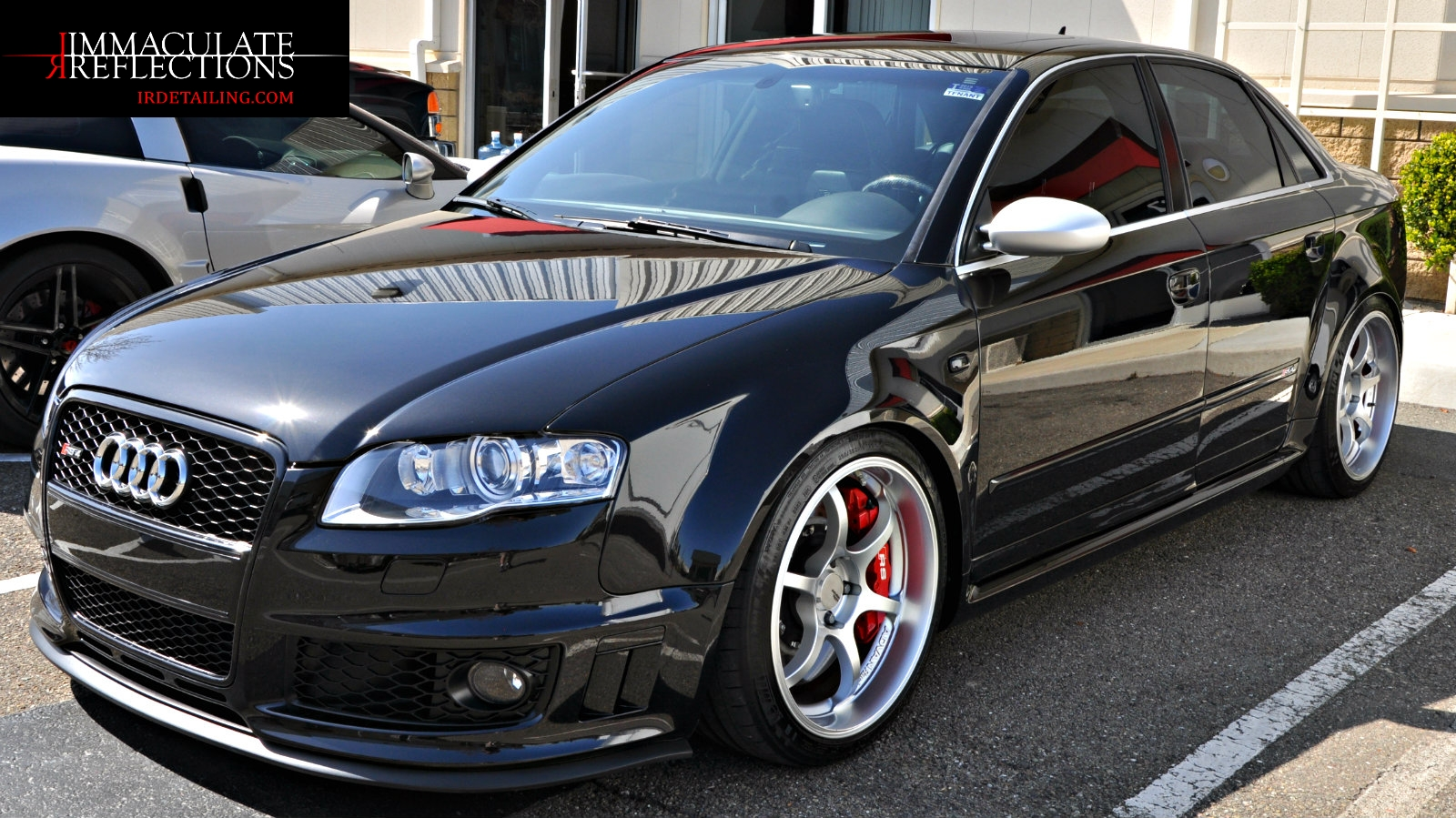 This Audi RS4 is a beautiful as she is fierce now thanks to irdetailing.com paint correction and CQuartz Finest Paint Coating detail services.